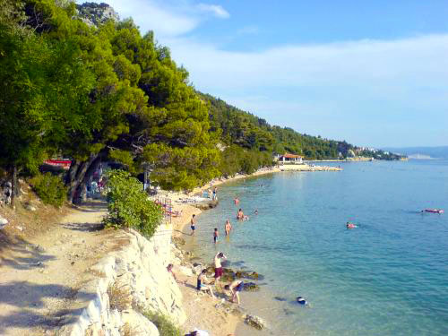 Beach Slavinj is favourite beach among local population